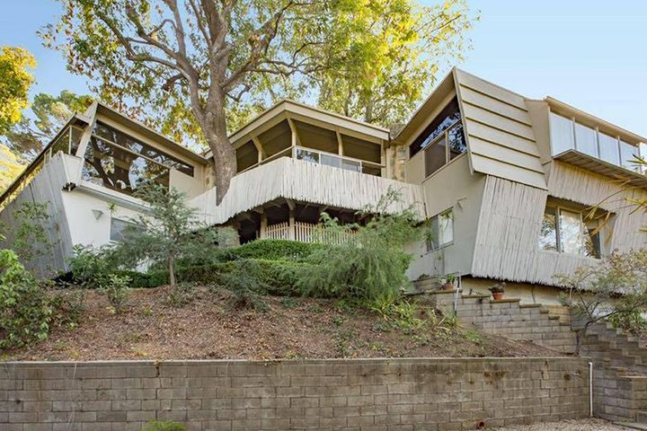 Kallis-Sharin Residence designed by Rudolph Schindler in the Hollywood Hills