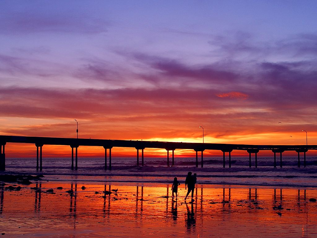 Southern California Sunset Pier