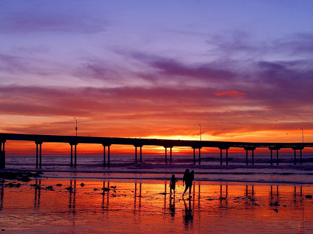 Southern California Sunset Pier
