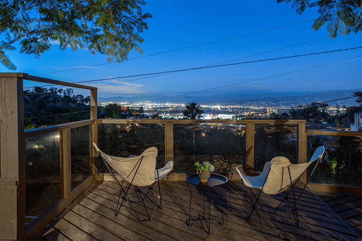 Rustic Cottage with Views For Sale in the Hollywood Hills CA
