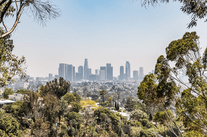 Views of Downtown from Silver Lake CA