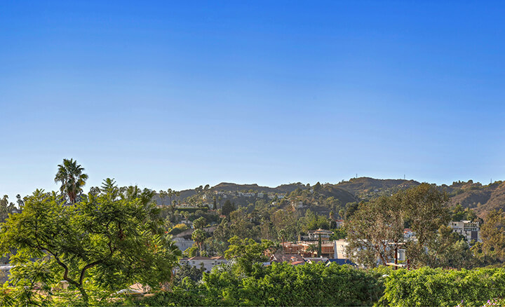 Views of the Hollywood Hills