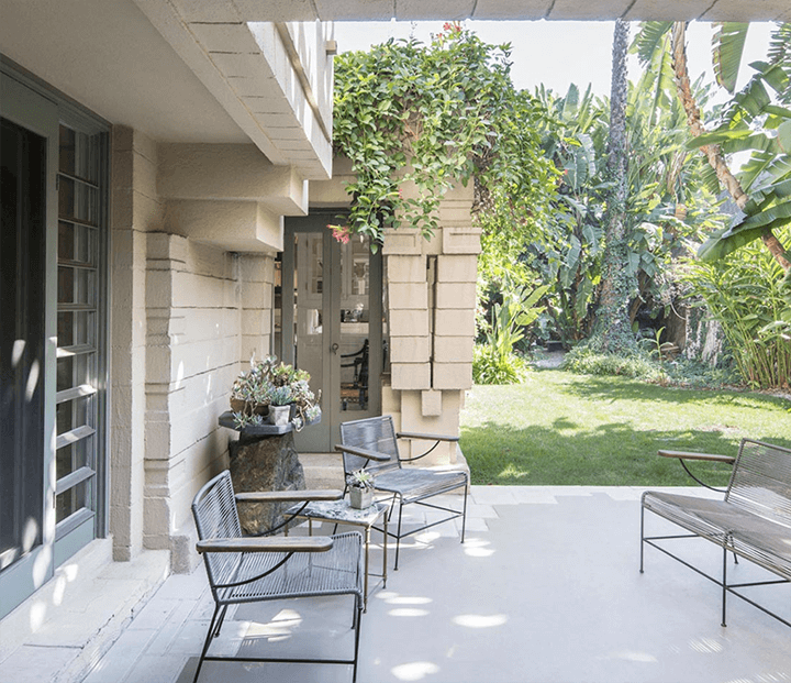 Lloyd Wright's stunning Henry Bollman Residence in West Hollywood CA