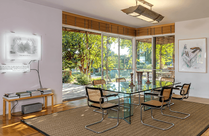 C. Raimond Johnson AIA moderne home for sale in the Hollywood Hills CA