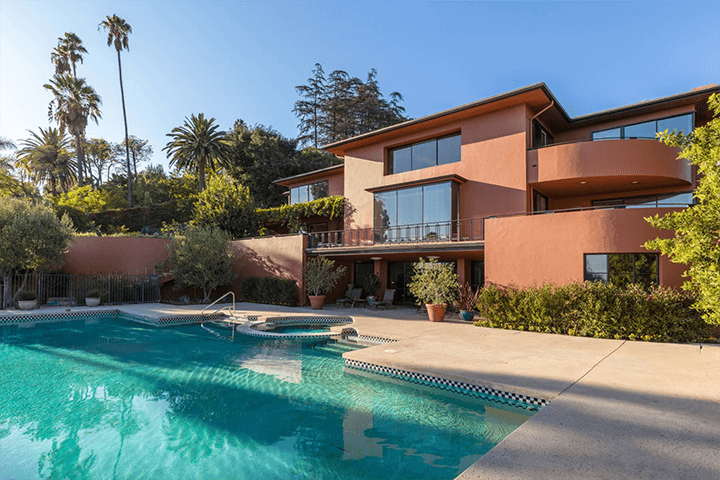 Moderne home by C. Raimond Johnson AIA in the Hollywood Hills