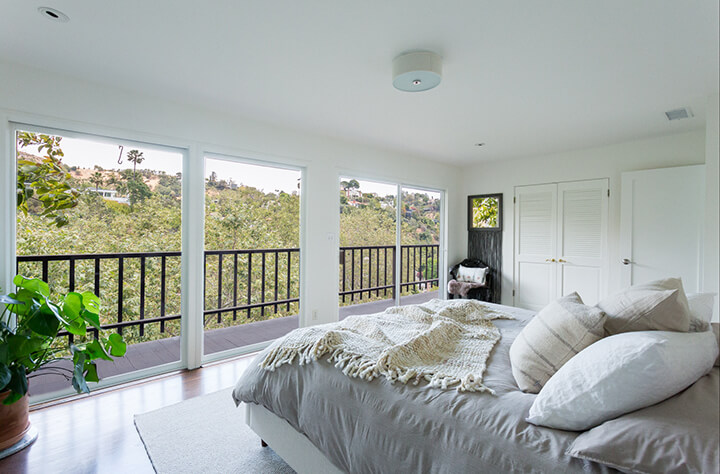 Hollywood Hills home for sale with a view from master bedroom