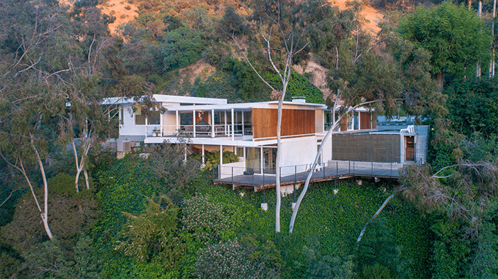 Johnson House by Buff & Hensman located in Nichols Canyon