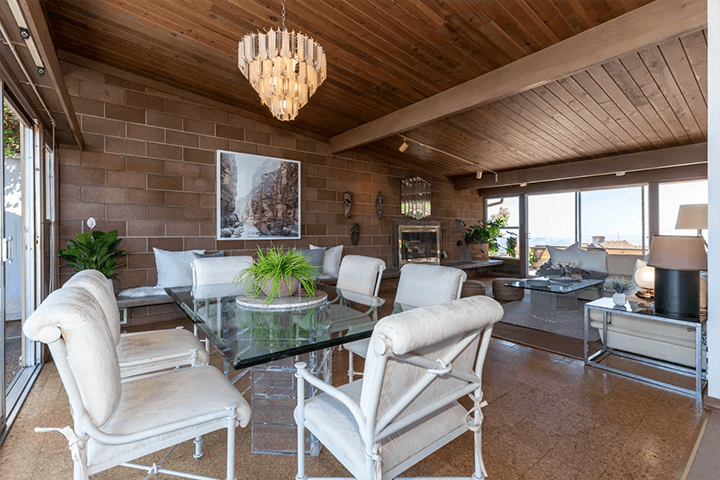 Midcentury modern home by Burnett C. Turner, AIA for sale in Los Feliz