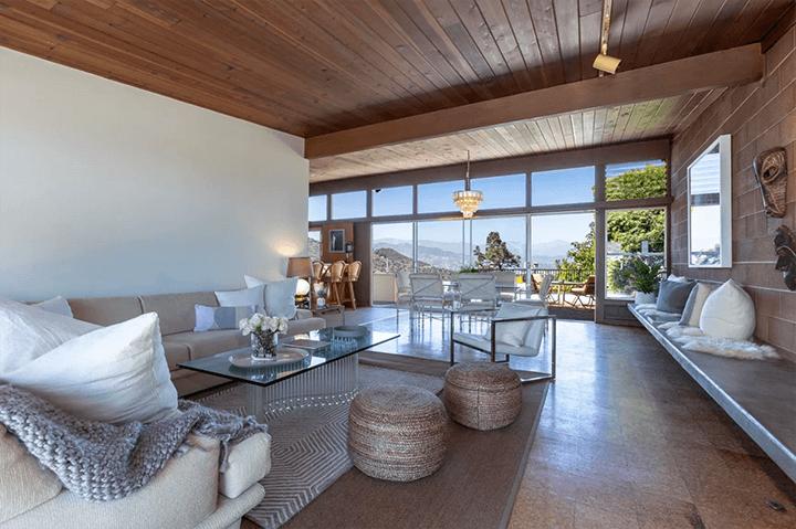 Midcentury modern home by Burnett C. Turner for sale in Los Feliz