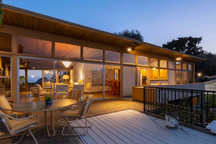 Midcentury modern home by architect Burnett C. Turner for sale in Los Feliz CA 90027