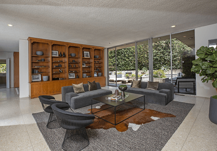 Modernist home for sale in Beverly Hills by architect Charles G. Kanner