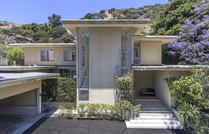 Modernist house by architect Charles G. Kanner for sale in Beverly Hills