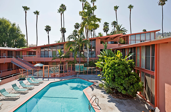 Ed Fickett's Hollywood Riviera midcentury complex