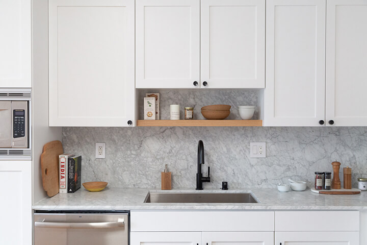 Renovated kitchen of penthouse condo unit for sale in Studio City