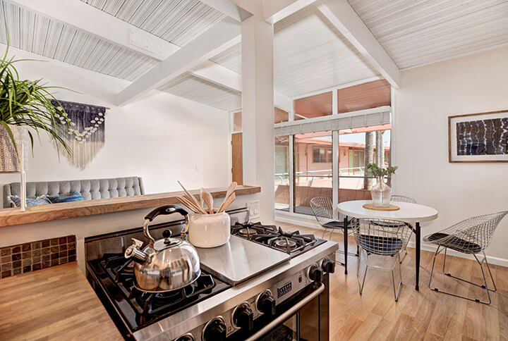 One-bedroom condo in Hollywood Riviera midcentury complex in West Hollywood