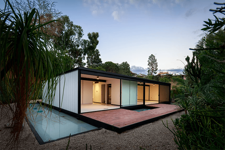Pierre Koenig's Bailey House, Case Study House No.21 in Laurel Canyon