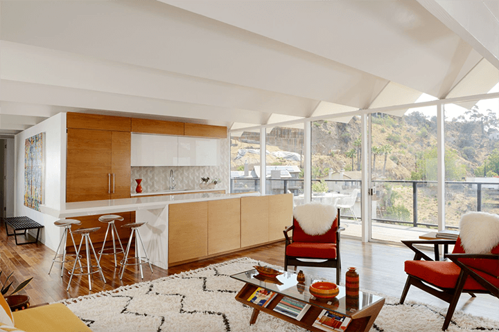 Richard Banta's midcentury modern home in the Hollywood Hills CA 90069