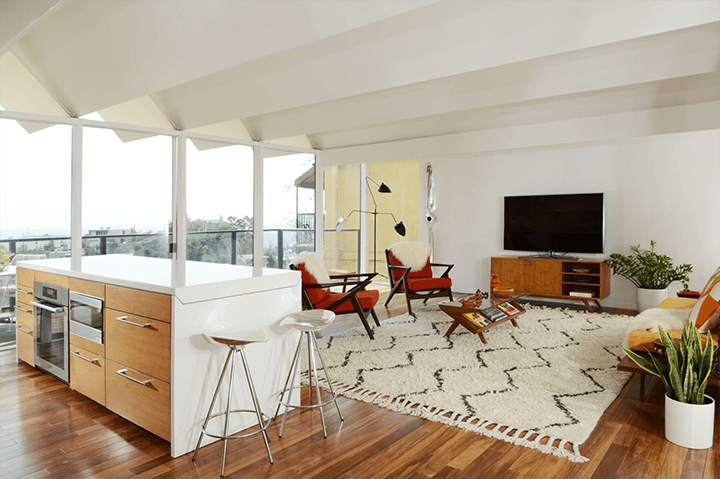 Richard Banta's midcentury modern home in the Hollywood Hills Los Angeles