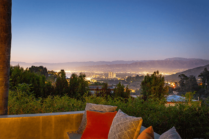 View from John Lautner's Bergren House in the Hollywood Hills