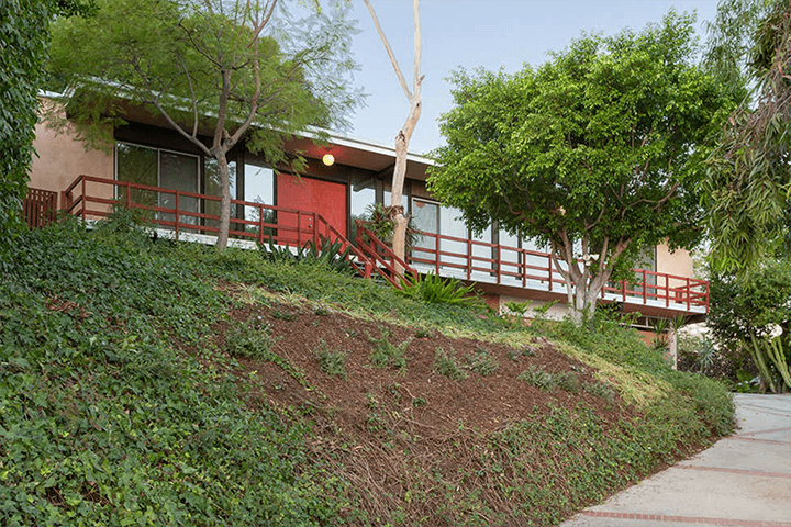 Mid-century modern home for sale by Kazuo Umemoto