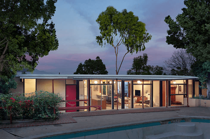Midcentury modern home for sale by Kazuo Umemoto
