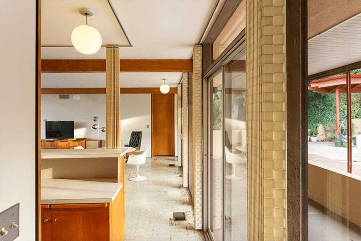 Midcentury modern home for sale by architect Kazuo Umemoto