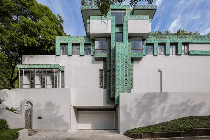 Exterior of the Ramon-Novarro House by Lloyd Wright