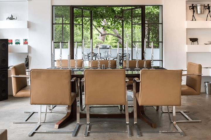 Inside the Samuel-Novarro Residence by Lloyd Wright in Los Feliz