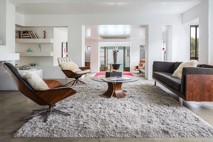 Inside the Samuel-Novarro Residence by Lloyd Wright