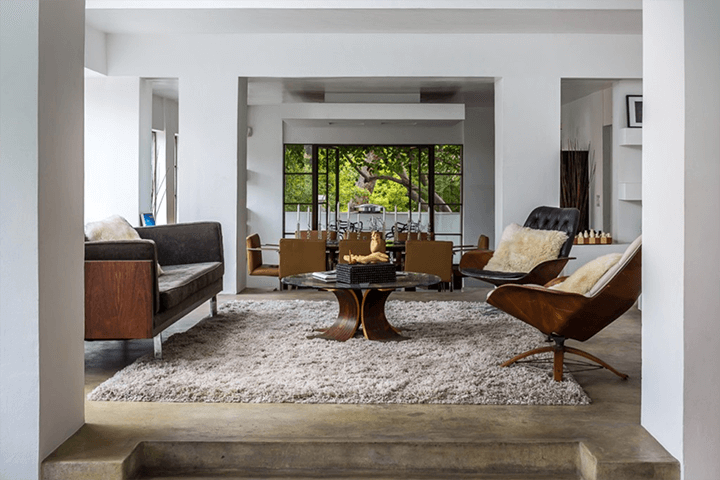 Inside the Samuel-Novarro Residence by architect Lloyd Wright