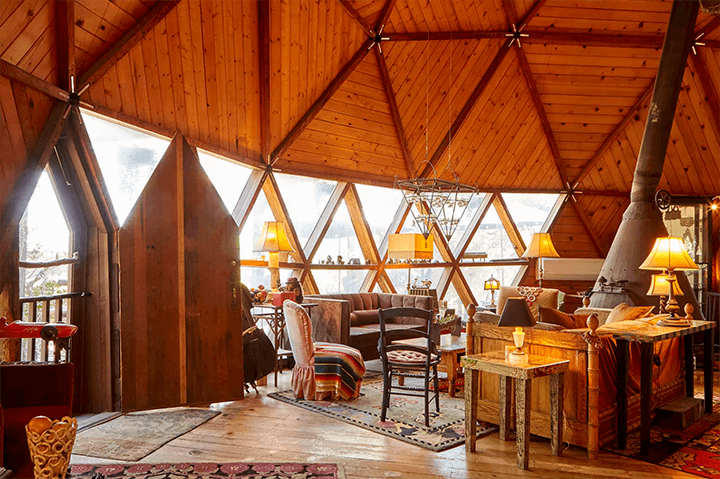 Geodesic dome in Topanga