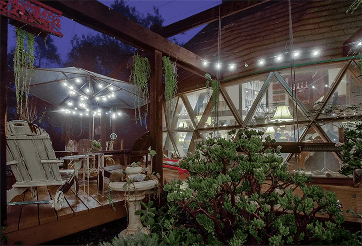 Geodesic dome-style dwelling in Topanga