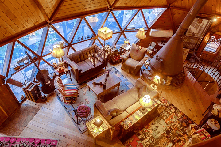 Geodesic dome-style home for sale in Topanga CA