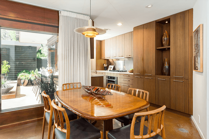 Mid-century modern home for sale in the Hollywood Dell