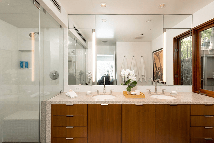 Midcentury modern house for sale in the Hollywood Dell 90068