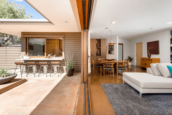 Mini midcentury compound for sale in the Hollywood Dell