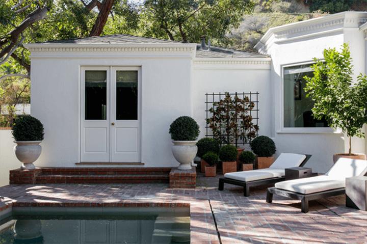 The home of late fashion designer James Galanos