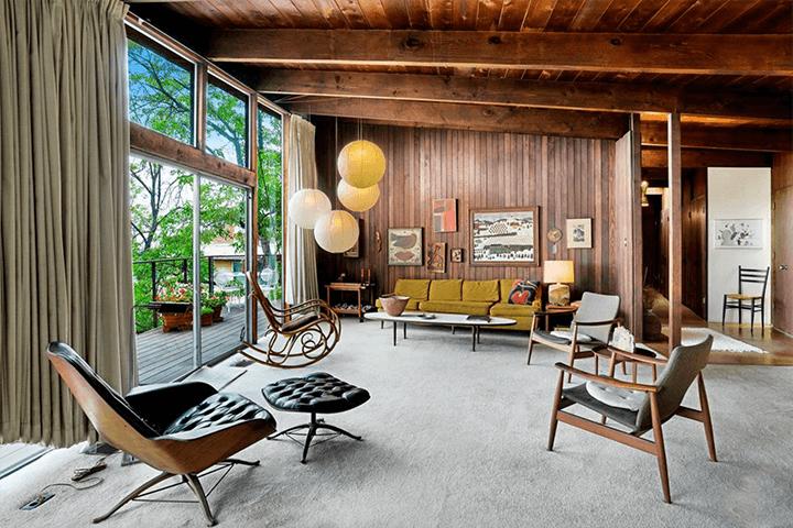Ronald L. Buck Beachwood midcentury modern home
