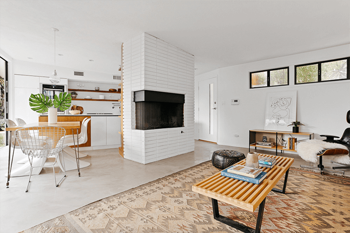 Mid century modern in the Franklin Hills remodeled by architect Linda Taalman