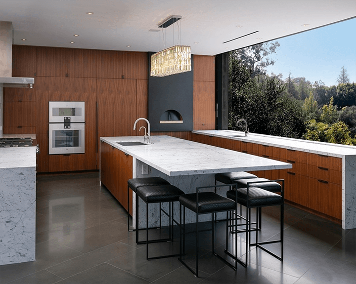 The Oak Pass House by Walker Workshop in Beverly Hills CA