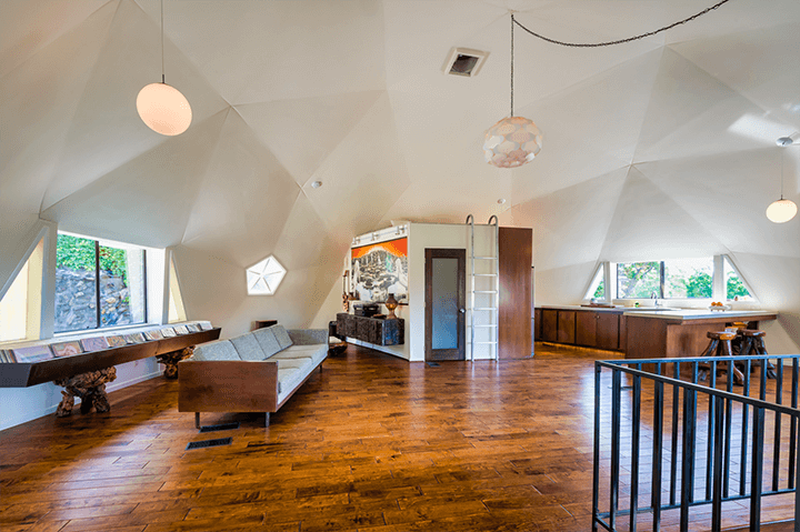 Eagle Rock compound with geodesic dome
