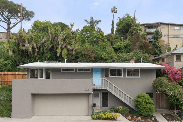 Mid century home for sale designed by Schindler and his protégé