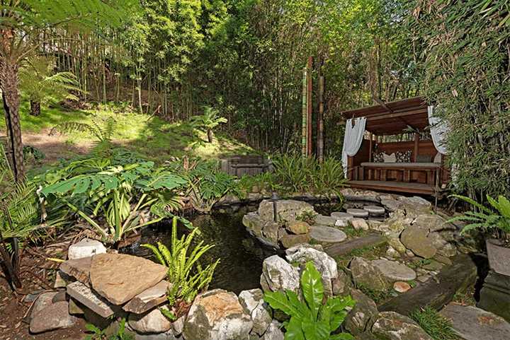Garden designed by landscape architect Garrett Eckbo