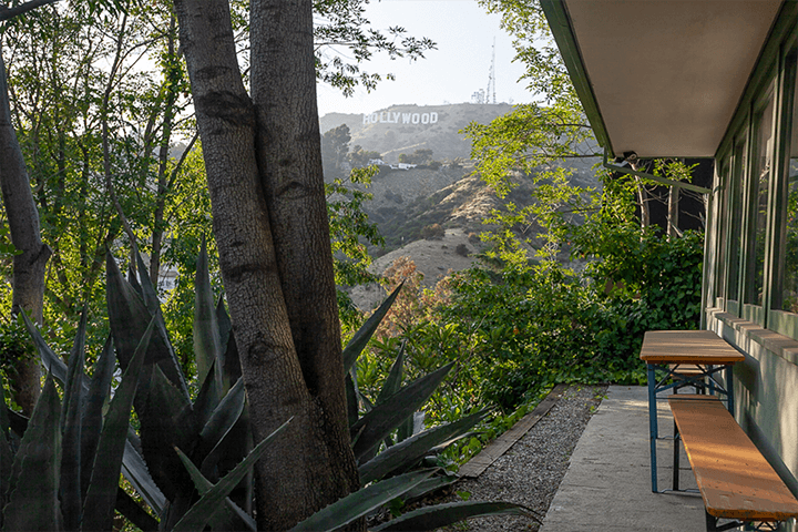 Mid-century home for sale in the Hollywood Hills