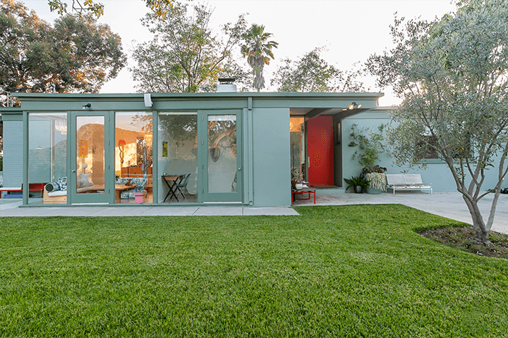 Midcentury home for sale in the Hollywood Hills