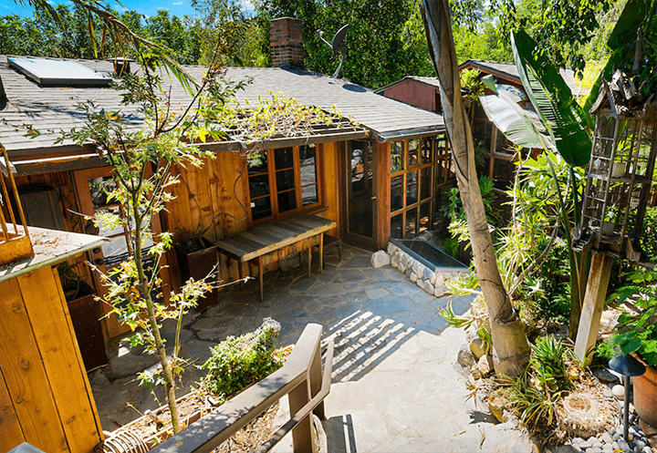 Two Craftsman Bungalow dwellings for sale in the Hollywood Hills