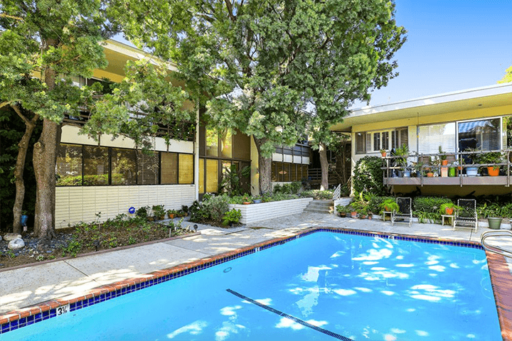 Two-bedroom midcentury condo for sale in Pasadena