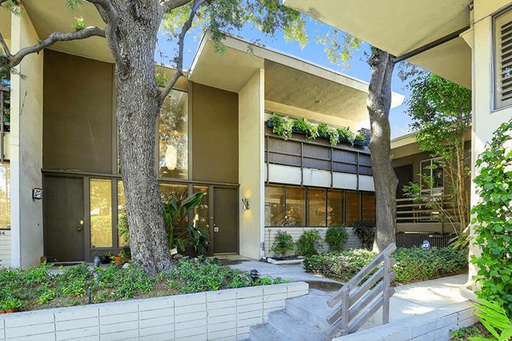 Two-bedroom midcentury modern condo for sale in Pasadena CA