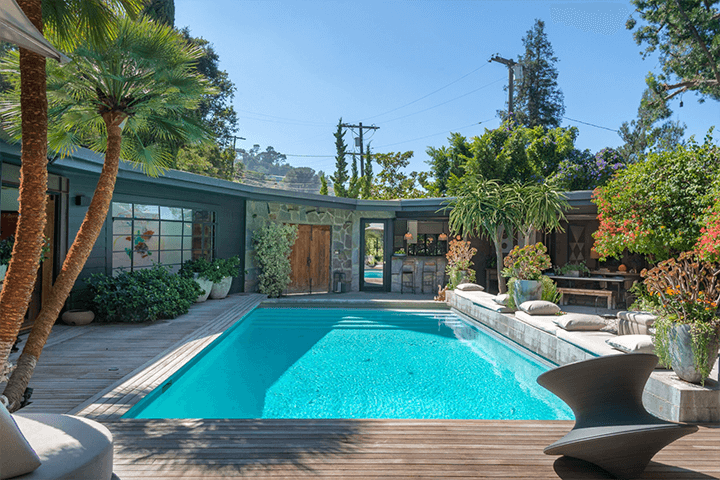 Two mid-century residences for sale in the Hollywood Hills