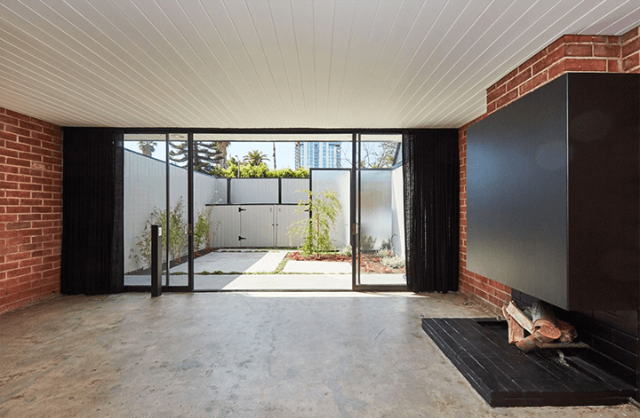 Inside Craig Ellwood's Courtyard Apartments for sale in Hollywood CA